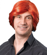 Mens Fancy Dress 1970s Party Tony Ginger Straight Short Fake & Artificial Wig