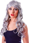 Ladies Fancy Party Costume Temptress Gothic Curly Long Fake & Artificial Wig