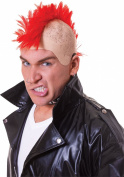 Mens Fancy Dress Party Mohawk Punk Rocker Mohican Red Hair Artificial Wig
