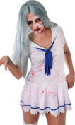 Fancy Dress Halloween Party Zombie Lady Long Straight Fake Artificial Wig
