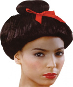 Fancy Dress Party Accessory Geisha Japanese Lady Short Fake & Artificial Wig