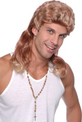 Mens Fancy Dress 1980s Party Mullet 2 Tone Glam Rock Fake & Artificial Wig