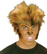 Mens Fancy Dress Halloween Party Accessory Wolfman Short Fake & Artificial Wig