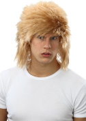 Mens Fancy Dress 1980s Party Shaggy Ginger Glam Rock Fake & Artificial Wig
