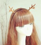 Christmas Halloween Props Small Antlers Hair Band Headband, Brown