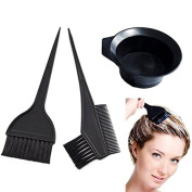 Idealgo. 4 Pcs Salon Hair Colouring Dyeing Kit Dye Brush Comb Bowl Tint Tool Kit