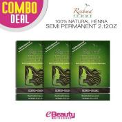 3 Pcs Combo Deal Reshma Henna Semi Permanent Hair Colour 60ml
