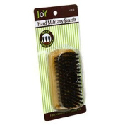 Joy Military Style Natural Wood Handle 100% Boar Hard Bristle Hair Brush