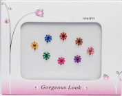 Colourful Floral Party Bindis