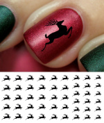 Christmas Holiday Reindeer Water Slide Nail Art Decals- Salon Quality!