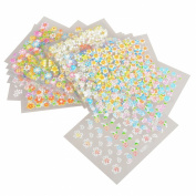 Theo & Cleo 3D Nail Art DIY Stickers 30 Sheet, Floral Pattern