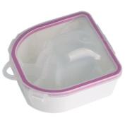 Dealglad® Nail Art Tips Hand SPA Acrylic Powder Polish Cleaner Remover Soak Tray Bowl Manicure Tool