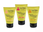 3 Pack Variety Bundle of The Naked Bee Serious Hand Repair Cream Lotion - 1 Each of Orange, Grapefruit & Pomegranate