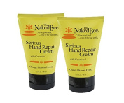 The Naked Bee Serious Hand Repair Cream Lotion - 2 Pack - Orange Blossom Honey w/ Ceramide 3