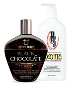Brown Sugar Black Chocolate 200x Tanning Bronzer 400ml w/Free Exotic For Tanners 530ml