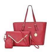 Binmer(TM)Women Handbag Shoulder Bags Tote Purse Leather Ladies Messenger Hobo Bag 3 Pcs Set