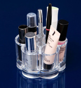 SEADEAR Clear Acrylic Lipstick Cosmetic and Makeup Brush Holder Organiser Display Case with Stylus