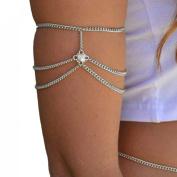 Voberry® Women's Retro Drop Arm Harness Slave Chain Upper Cuff Armband Armlet Bracelet