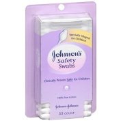 Johnson's Baby Safety Swabs 55 ea Pack of 5