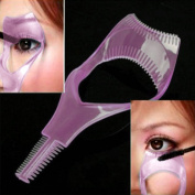 MERSUII™ Cosmetic 3 in 1 Mascara Applicator Guide Tool Eyelash Comb Makeup Plastic Curler Beauty