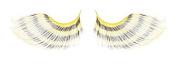 Zinkcolor Black Yellow Bee Stripes False Synthetic Eyelashes E665 Dance Halloween Costume