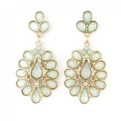 Pretty Gold Tone Beads Post Backings Dangle Drop Earrings