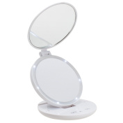 KEDSUM 1X/5X LED Lighted Double Sided Makeup Mirror- Folding Vanity and Travel Mirror