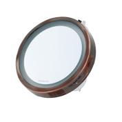 Ovente MLI25CO LED Lighted Compact Travel Mirror, 15cm , Copper