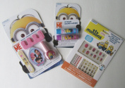 Minions Manicure Kit with Nail Art Stickers and Decorations and Lip Balm