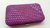 Purple Woven Manicure Kit