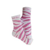 PEDI SOX Pink Zebra 1-pr