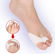 HiiBaby®Unisex Gel Bunion Protectors Toe Separators Straighters Spreaders Corrector Bunion Cushion Pain Relief Foot Care & Thumb Valgus Protector & Bunion Adjuster