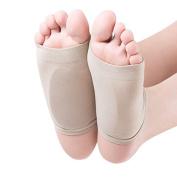 1 Pair Silicone Elastic Bandage Arch Flatfoot Orthotics Massage Pad Insoles