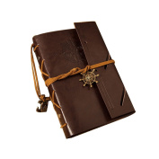Tinksky Vintage Anchor Rudder Decorated PU Cover Notebook Travel Diary Sketchbook