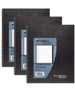 Mead Cambridge Limited Business Notebooks, Legal Ruled, 1 Subject, 3-Pack