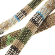 Multi-Coloured Cotton Cord, Round Woven Strands 6mm Thick, 0.9m, Beige Mix