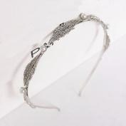 XDOBO Pearl Crystal Bride Hair Hoop Hair Band Hairbands Hairwear