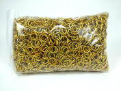 1/2 Pound Gold Anodized Aluminium Jump Rings 18G 0.6cm ID