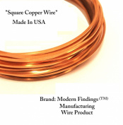 Modern Findings(TM) 20 Ga Square Copper Wire 7.6m (Dead Soft) Coil