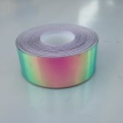 9.1m Roll of 1.9cm Watermelon Haze Colour Shifting Metallic Hula Hoop Tape