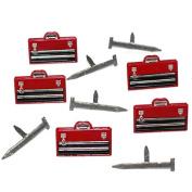 Eyelet Outlet Shape Brads 12/Pkg-Tool Box & Nails