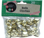 20 Count 1.9cm Gold Crafter's Square Craft Jingle Bells