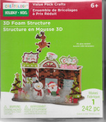 Creatology 3D Holiday Foam Structure -242 Pieces