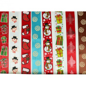 Laribbons Printed Satin 2.5cm - 1.3cm Wide Christmas Holiday Ribbons ...