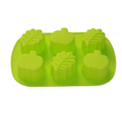 X-Haibei Autumn Fall Decorative Soap Pumpkin leaf Cake Ice Cream Chocolate Jello Silicone Mould