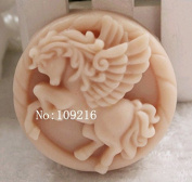 Creativemoldstore 1pcs Fine Horse(zx671) Craft Art Silicone Soap Mould Craft Moulds DIY Handmade Soap Mould
