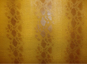 Vinyl Faux Fake Leather Snake Viper Caramel Embossed Pattern Upholstery Fabric Sold By the Yard 140cm Wide