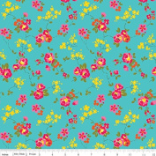 Olivia by Emily Hayes from Penny Rose Fabrics 100% Cotton Fabric - By the Yard C4242 Teal