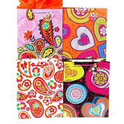 12 PC Extra Large Bohemian Dreams On Matte Gift Bag, 4 Designs