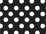 Black & White Polka Dots Gift Wrap Flat 60cm X 1.8m